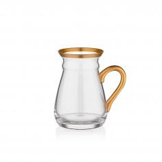 NIHAVENT HANDLE MAT GOLD TEA GLASS ST 6 PIECE