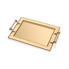 CHROMIUM FULL GOLD TRAY 45*35