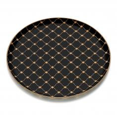 VICTORIA MAT GOLD GLASS TRAY 35*35